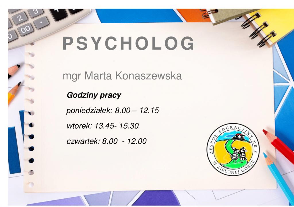 wywieszka,psycholog, II semestr-1