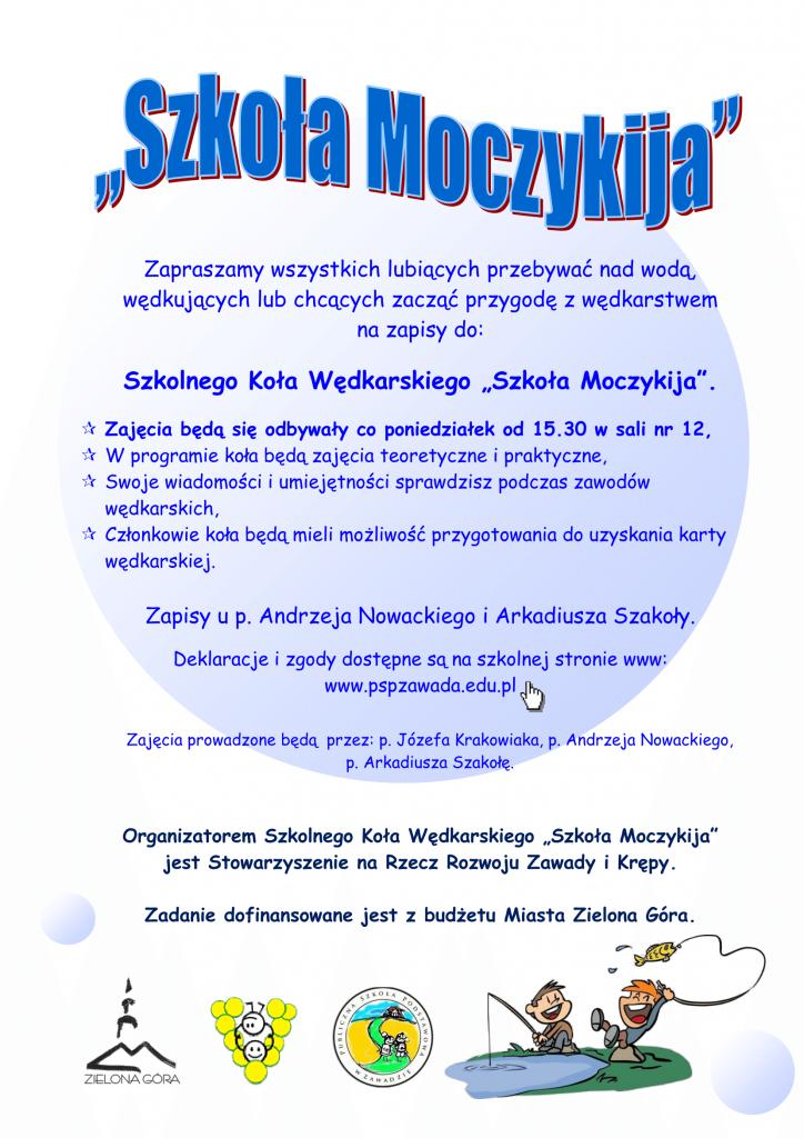 Plakat koła wędkarskiego Szkoła Moczykija-1