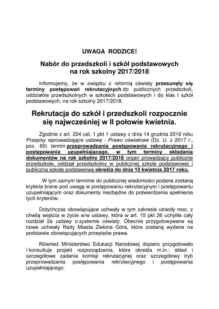 Nabór do przedszkoli i szkół podstawowych na rok_szkolny 2017-1