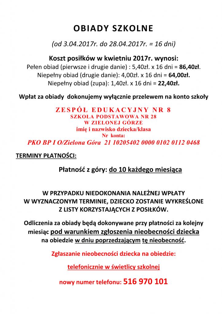 OBIADY SZKOLNE kwiecień 2017-1