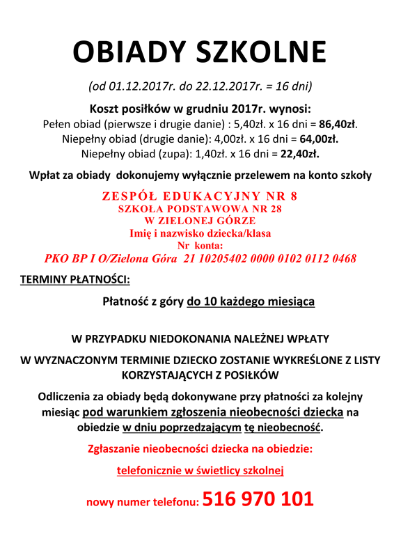 OBIADY SZKOLNE Grudzień 2017r.-1