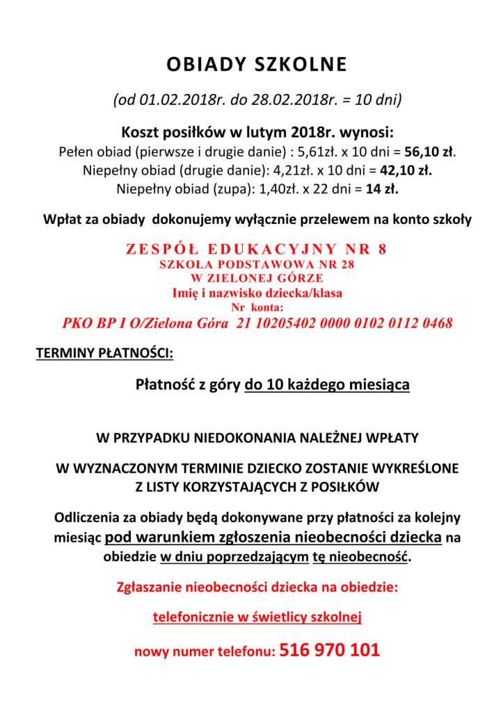 OBIADY SZKOLNE luty 2018-1