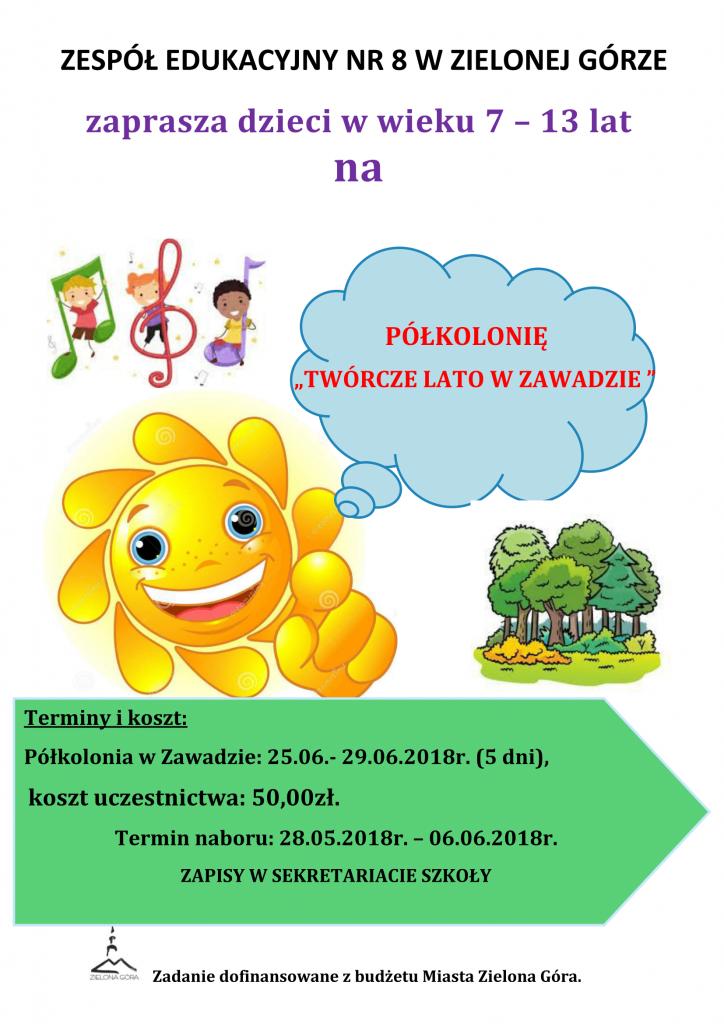Plakat Półkolonia 2018-1