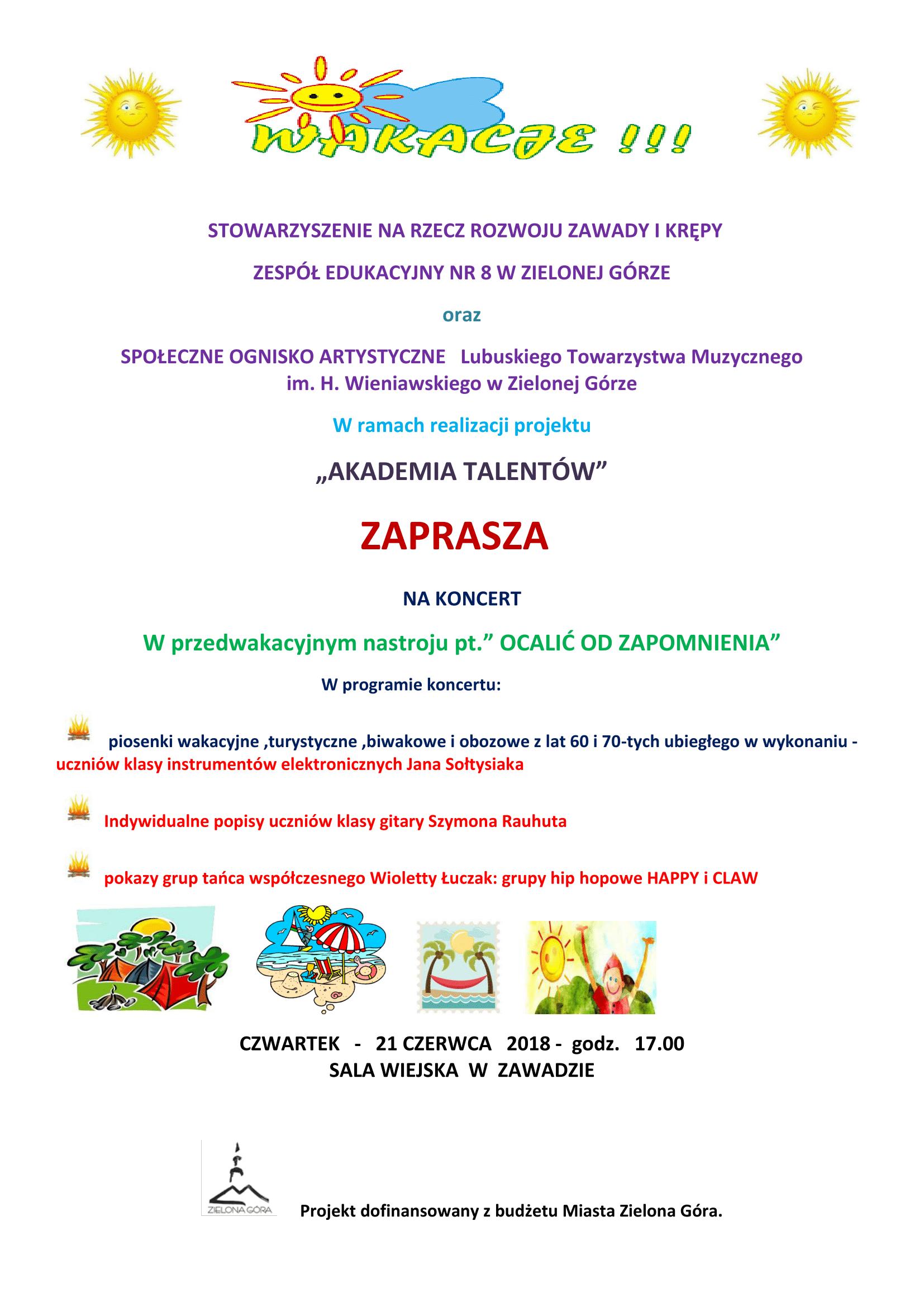 Akademia Talentów, plakat, czerwiec 2018-1