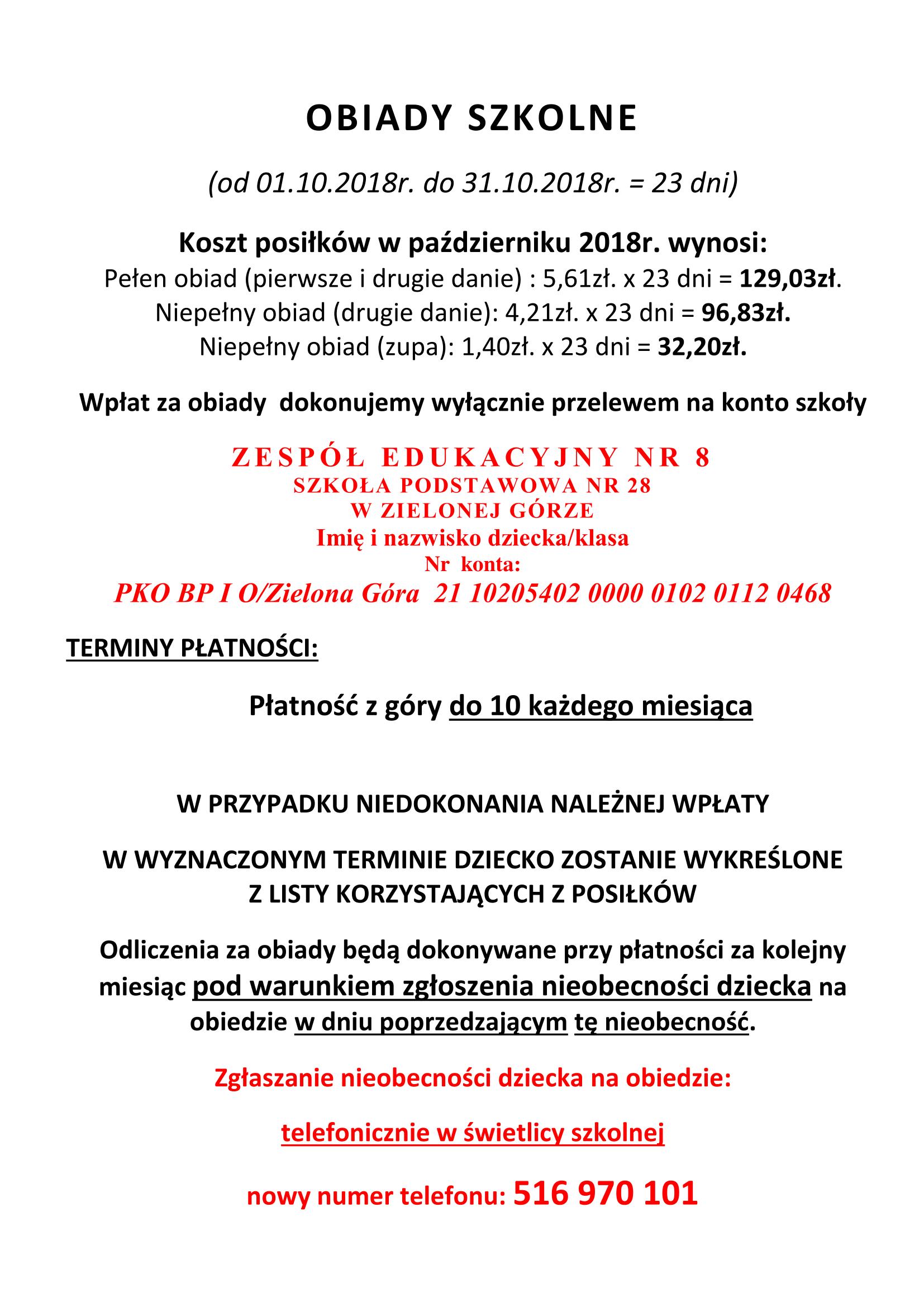 OBIADY SZKOLNE październik 2018-1